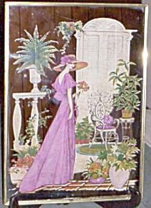 Stunning Pictoral Mirror Lady in Lavander (Image1)
