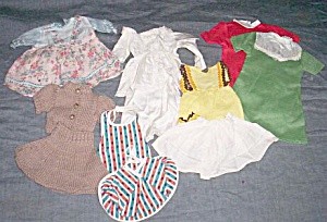 Lot Vintage Doll Clothes Small Doll 60�s (Image1)