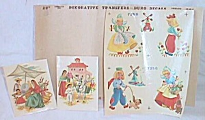 Packet Vintaqe Duro Decals Dutch/ Mexican Kids (Image1)