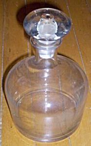Vintage Crystal Decanter Mushroom Stopper (Image1)