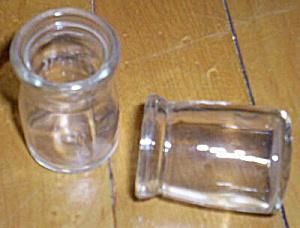 2 Vintage Mini Cream Bottles (Image1)