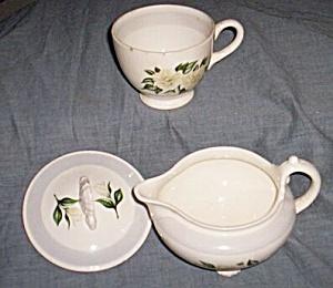 Homer Laughlin Nautilus Creamer Cup Lid White Rose (Image1)