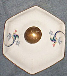 Hexagon Sugar Bowl Lid Birds of Paradise (Image1)