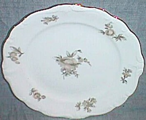 J Haviland Bread & Butter Plate Brown Rose Bavaria Germany (Image1)