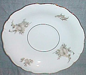 J Haviland Saucer Brown Rose Bavaria Germany (Image1)