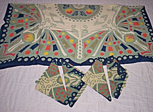 Retro 60's Table Cloth Napkin Set (Image1)