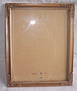Vintage Gesso Over Wood Picture Frame