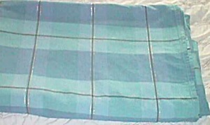 Vintage Blue Plaid Bed Cover/Spread (Image1)
