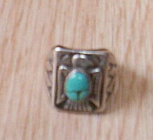 Vintage Bell Sterling and Turquoise Ring (Image1)