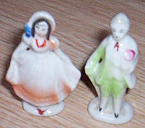 Miniature Man And Woman Porcelain Figurines