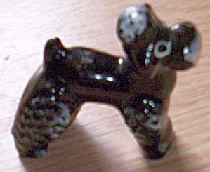 Miniature Brown Pottery Poodle (Image1)