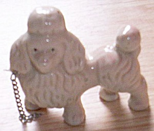Antique Porcelain Chained Poodle (Image1)