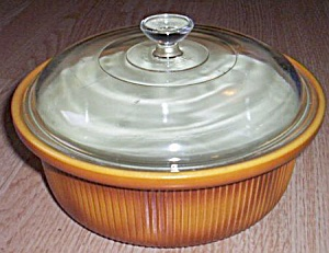 Hall China Ribbed Casserole