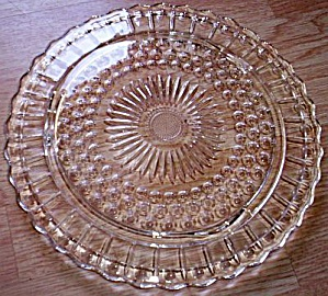 Vintage Cake Plate Dots and Sunburst (Image1)