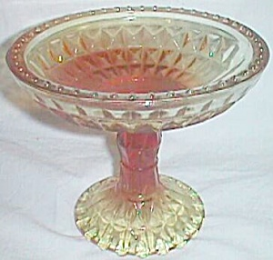 Jeannette Windsor Diamond Compote Amberina (Image1)