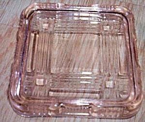 Hazel Atlas Crisscross Refrigerator Box Lid Pink (Image1)