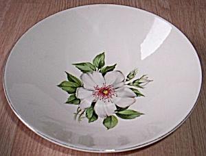 Vintage Round Serving Bowl White Wild Rose (Image1)