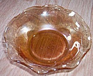 "Jeannette Glass Floragold ""Louisa"" Dessert Bowl (Image1)"