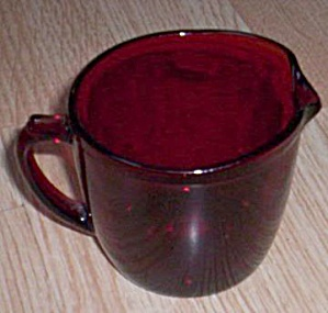 Royal Ruby Flat Creamer (Image1)