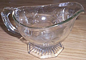Antique Glass Gravy Boat Star (Image1)