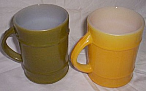2 Fire King Barrel Mugs (Image1)