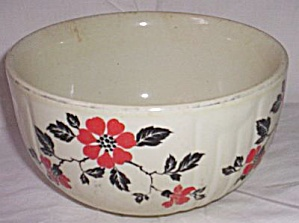Hall China Red Poppy Mixing Bowl
