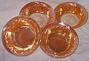 4 Fire King Peach Luster Sauce Bowls (Image1)