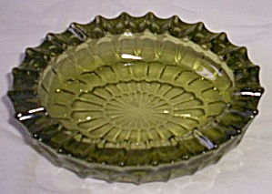Fenton Thumbprint Green Ashtray
