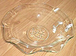Ruffled Rim Console Bowl Rose Center (Image1)