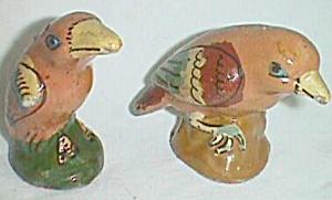 Old Clay Bird Salt & Pepper Set Mexico (Image1)