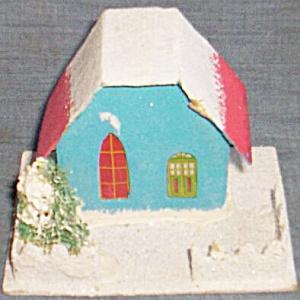 Vintage Paper Christmas Church (Image1)