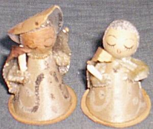4 Vintage Paper Cone Angels (Image1)