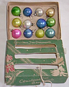 Box of Miniature Occupied Japan Christmas Ornaments (Image1)