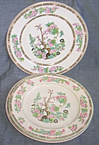 2 Onondaga Pottery Dinner Plates Indian Tree (Image1)