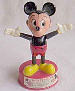 Vintage Mickey Mouse Push Button Maxi-Puppet Free Shipping (Image1)