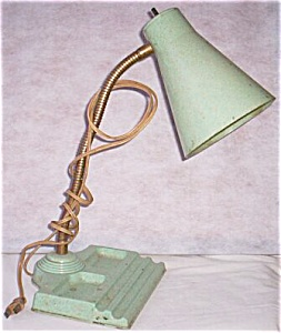 Unusual Goose Neck Desk Lamp w/ Pen Rest (Image1)