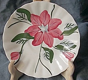 Blue Ridge Pottery Saucer Poinsettia (Image1)