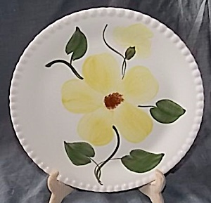 Blue Ridge Pottery Dinner Plate Yellow Flower