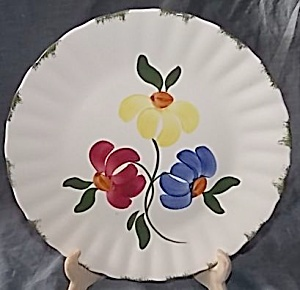 Blue Ridge Pottery Dinner Plate Painted Daisy