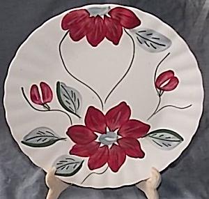 Blue Ridge Pottery Dinner Plate Poinsettia (Image1)