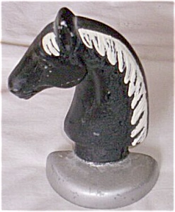 Vintage Cast Metal Horse Head Door Stop (Image1)