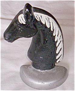 Vintage Cast Metal Horse Head Door Stop (Image1)