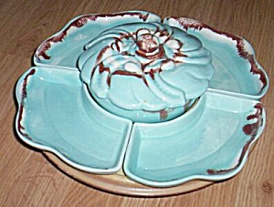 Vintage Lazy Susan 4 sides Center Covered Dish (Image1)