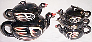 Royal Sealy 6 Pc Stacking Tea Set Ducks (Image1)