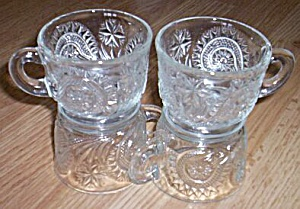4 Pinwheel and Stars Punch Cups Smith Glass (Image1)