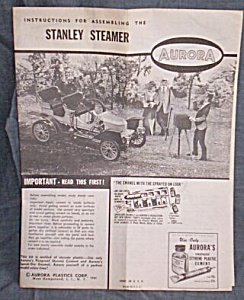 Instruction for Aurora Model Stanley Steamer (Image1)