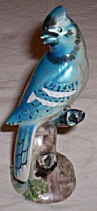 Vintage Blue Jay On Branch Figurine