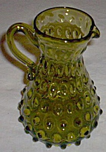 Vintage Hobnail Art Glass Pitcher (Image1)