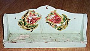 Vintage Wood Spice Rack Tulip Transfer (Image1)