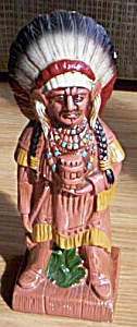 Vintage Still Bank Indian Chief (Image1)